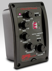 GFS EAP-540 Acoustic Preamp LED 4-Band EQ onboard tuner