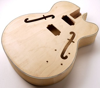 FF Series Full Sized HOLLOW Body All Laminated Maple, Small Body