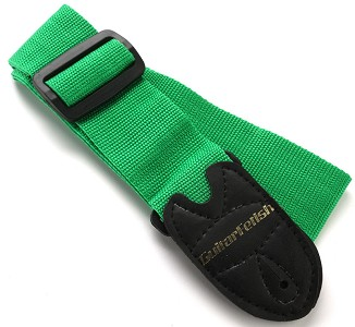 "2"" Wide Adjustable Nylon Guitar Strap Green"