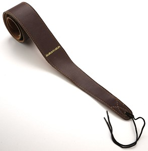"Deluxe Brown Leather Guitar Strap- 2 3/8"" Wide Adjustable"