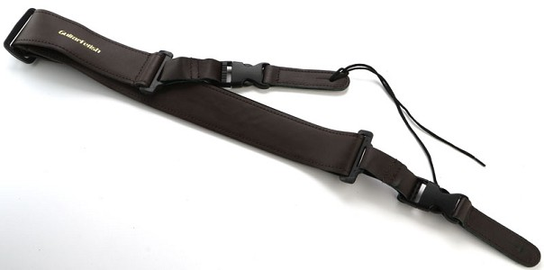 "Genuine Brown Leather Quick Release Guitar Strap- 2"" Wide Adjustable"