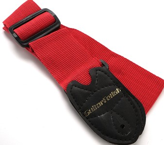 "2"" Wide Adjustable Nylon Guitar Strap Red"