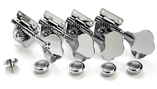"Set of four ""Elephant Ear"" Bass Tuners w/ string retainer"