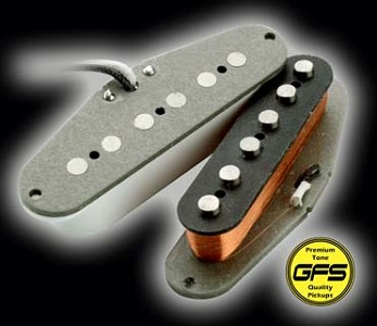KP - 60's-70's Grey Bottom Non Stagger Overwound Strat - MAX Power!! - Kwikplug® Ready