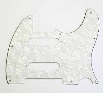 "Custom ""Nashville"" Tele Pickguard White Pearloid"