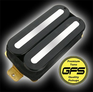 KP - GFS Power Rails - Crushing power, Killer Tone - Black-Chrome Rails - Kwikplug® Ready