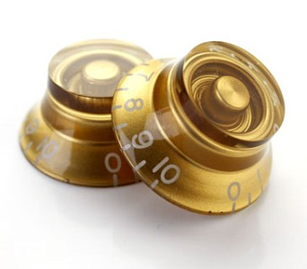 4 Gold Bell Tophat Knobs Set of Four