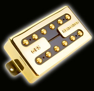 KP - Hot Liverpool Alnico Overwound Humbucker, Gold - Kwikplug® Ready