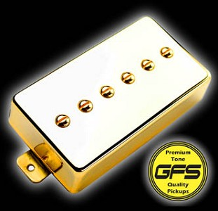 KP - Mean 90 - Alnico P90- Fat and Strong Output, Gold Case - Kwikplug® Ready