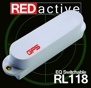 REDactive EQ Switchable Strat Active Neck position White