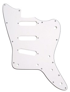 XGP 3 Ply Hand Aged White Offset Pickguard- 3 Single Coil Pickups